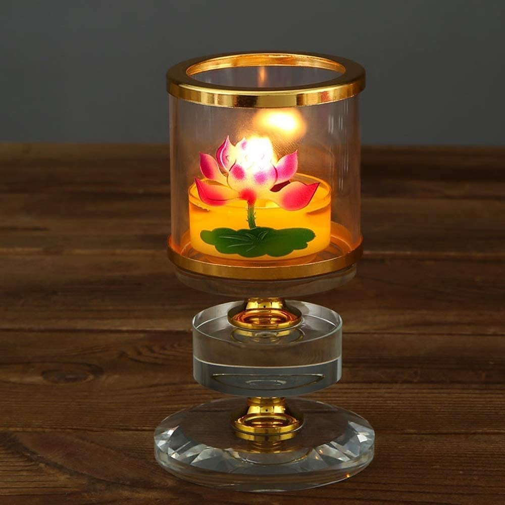 QWZ Ranking TOP13 Kerosene Oil Lantern Lamp Candle Hold Crystal Lotus Rapid rise