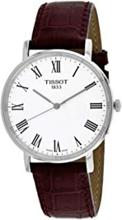Tissot Men's Quartz Watch analog Display and Leather Strap, T1094101603300