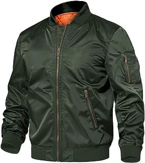 TACVASEN Men's Jackets Casual Bomber Jacket Lightweight Winter Lined Warm Windbreaker Outdoor Coat