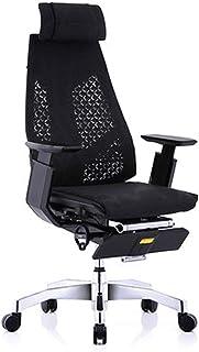 HEMFV Silla de escritorio ergonómica Silla de oficina ergonómica, silla de computadora con respaldo alto con soporte trasero ajustable, reposabrazos, cojín de espuma grueso, silla de oficina ejecutiva