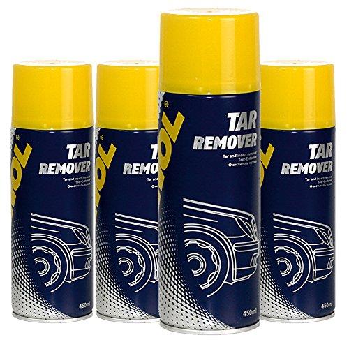 MANNOL 4 x 450ml 9668 Tar Remover/Teer- Insekten- Entferner Loesungsmittel Spray