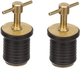 "Brass T-Handle Drain Plug 1-1/4"" Drain Plug for Boat (1-Inch,Drain Plug),2pcs"
