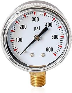 """MCOMC TS-Y50-600psi High Accuracy Radial Pressure Gauge Meter 1/4""""NPT Brass Pressure Measuring Tool Oil Pressure Tester"""
