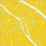 Poster 60 x 60 cm: Stadtplan von Bamberg von 44spaces -