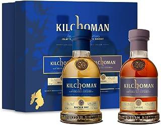 KILCHOMAN Gift Set 1xMachir Bay 0,2L  1x Sanaig 0,2L je 46%Vol Islay Single Malt Whisky