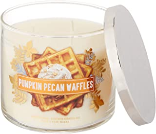 Bath and Body Works 3 Wick Scented Candle Pumpkin Pecan Waffles 14.5 Ounce