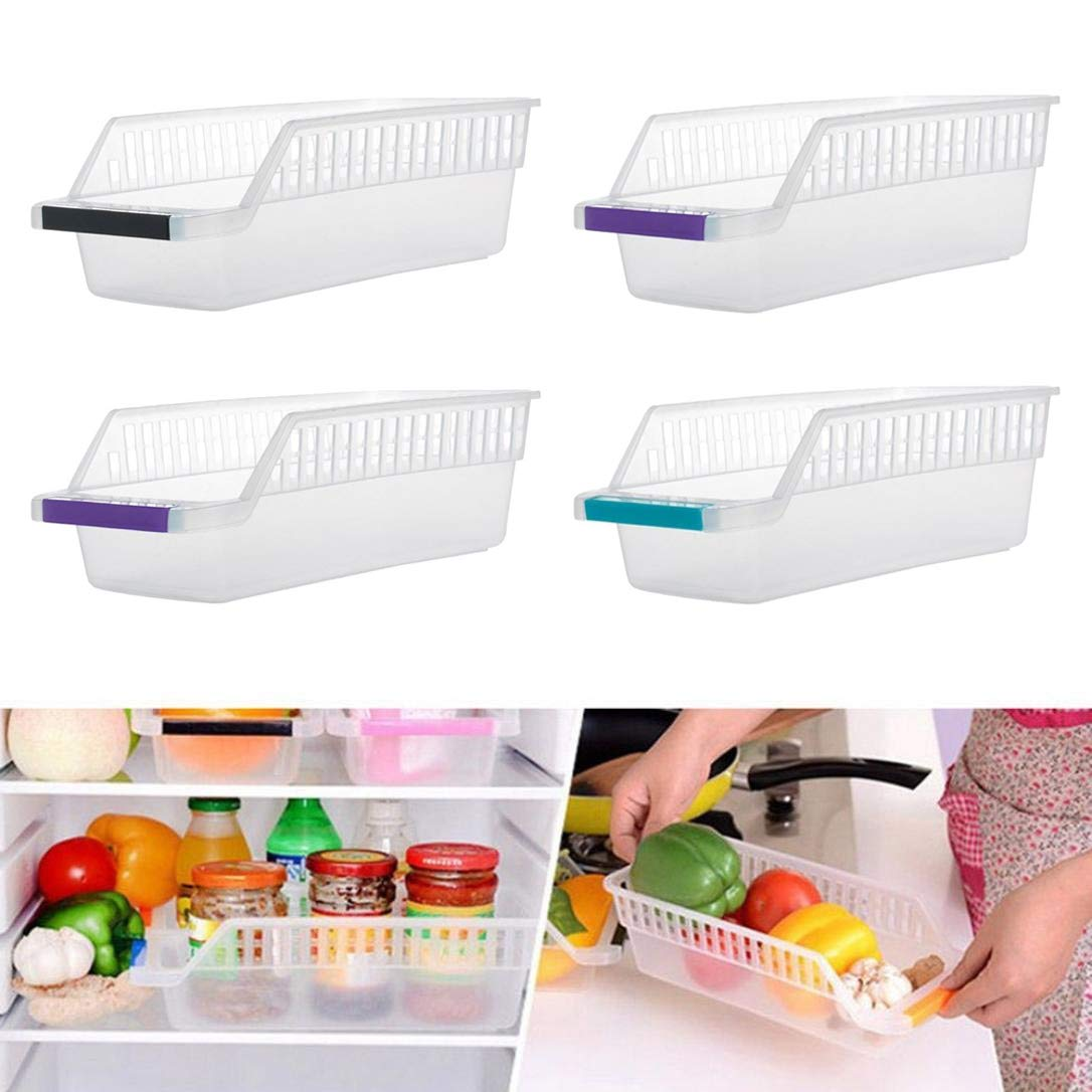 INOVERA (LABEL) Plastic Fridge Space Saver Food Storage Organizer Basket Rack, Multi-Color...