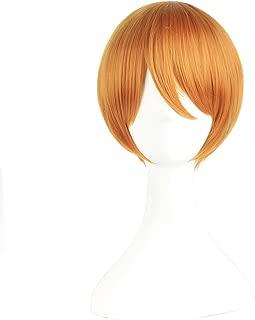 MapofBeauty Cosplay Wig Short Hair(Golden Orange)