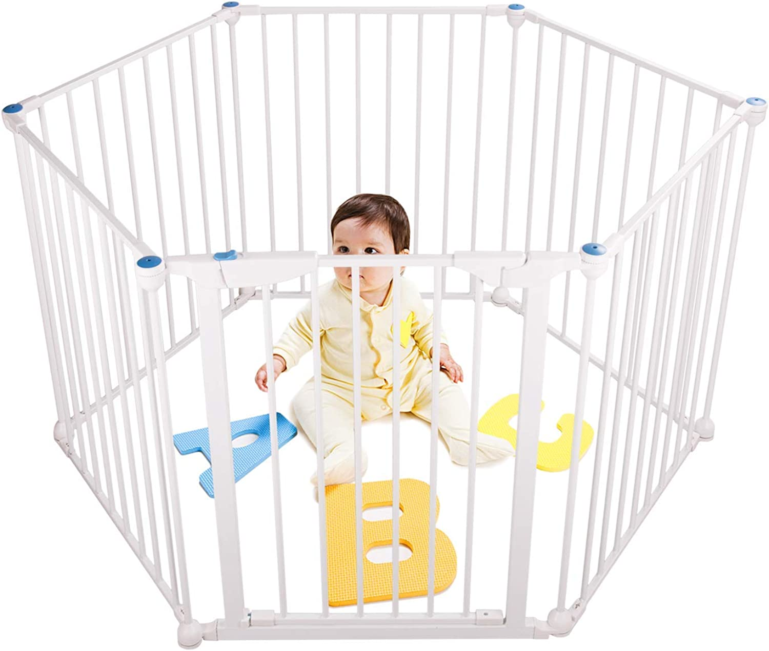 LEVE 150 x30  Baby Pets Playpen 6Panel Safety Play Yard Kids Activity Centre with WalkThrough Gate