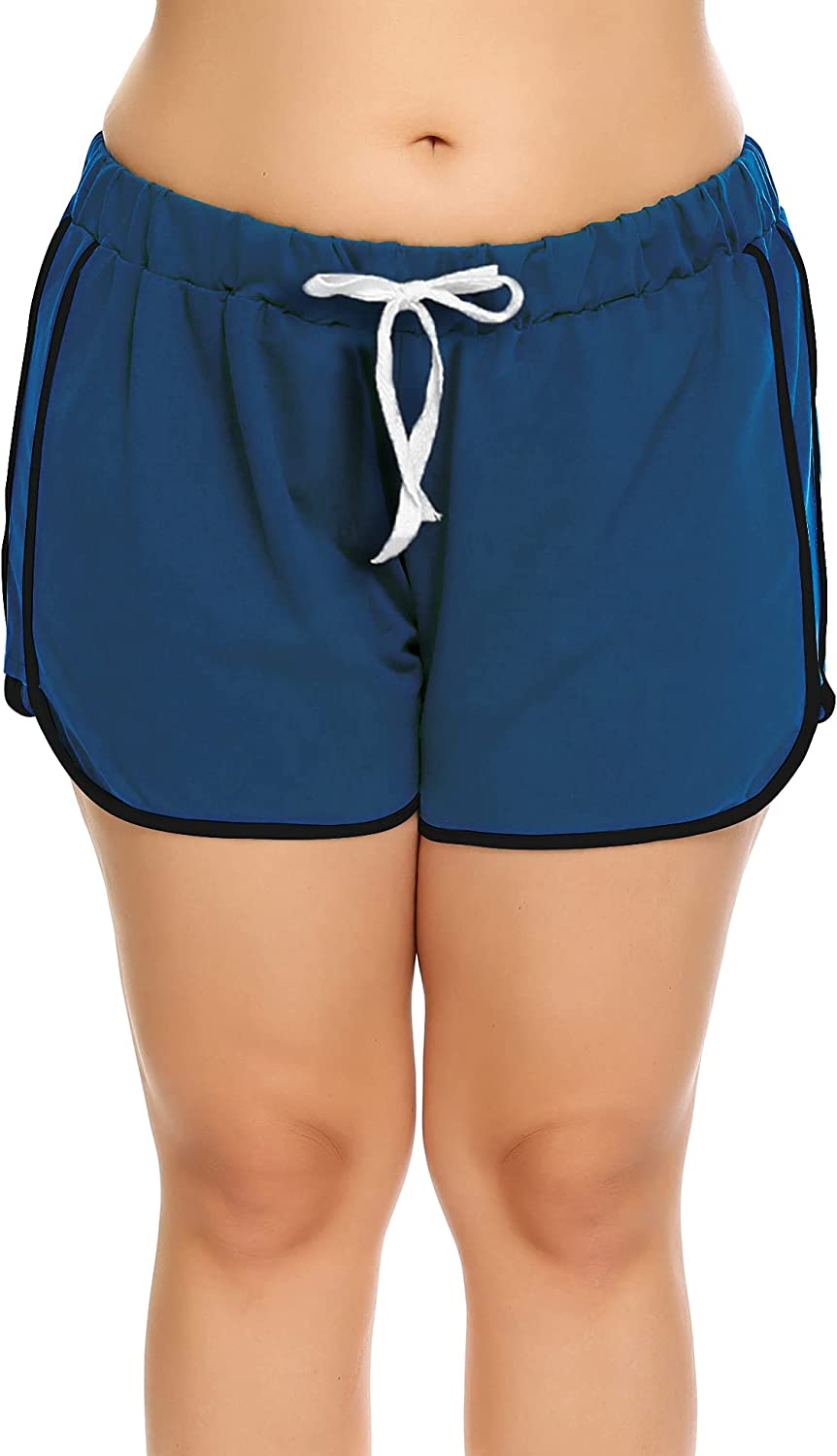 IN'VOLAND Women Plus Size Shorts Dolphin Shorts Plus Size Running Short for Workout Gym Sports Active Yoga