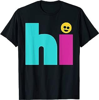 Hi Bye Smile Face Front & Back Design T-Shirt