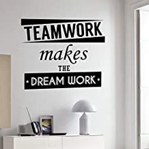 Wall Sticker Wall Vinyl Decal Quote Teamwork Makes The Dream Work Inspiration Words Sticker Home Office Decoration Murals35*42Cm