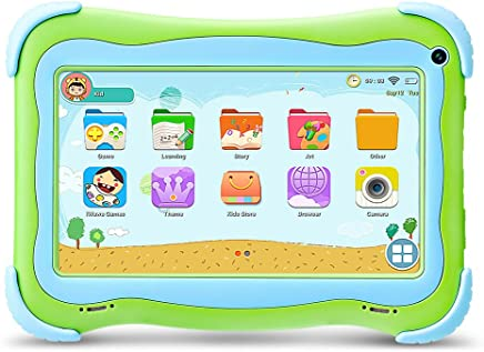 $52 Get Yuntab Kids Tablet Q91 7 Inch Allwinner A33,1.3 Ghz Quad Core Google Android 5.1,Tablet PC,1G+8G,Dual Camera,WiFi,Bluetooth,G-Sensor,Support SD/MMC/TF Card,Parental Control Software (Green)