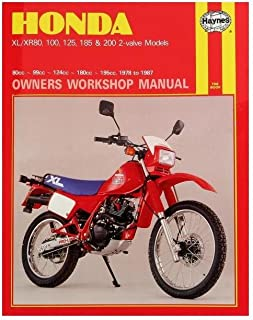 HAYNES Honda Xl/Xr: 80 100 125 185 200Cc 78-87 Repair Manual Offroad 566 566