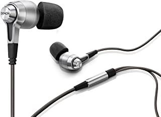 Denon AH-C720 In-Ear Wired Headphones | Designed For Professionals, Travelers & Music Enthusiasts on the Go | Premium Sound & Technology | Wear in Comfort for Hours | Silver