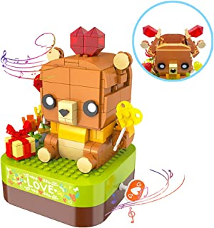 """KOKO Music Box Building Blocks for Kids and Adults with Surprised Chamber and Music of """"Your are My Sunshine"""", JK1303, Ide..."""