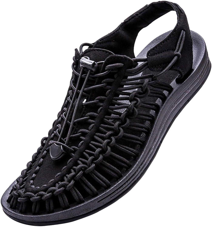 MYXUA Herren Sommer Sandalen Strand Schuhe Stricken Hohlen Schuhe