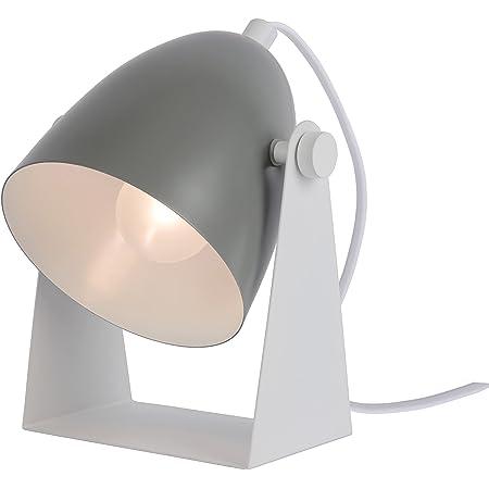 Lucide 45564/01/36 Lampe de Table, Métal/PVC, 40 W, Gris