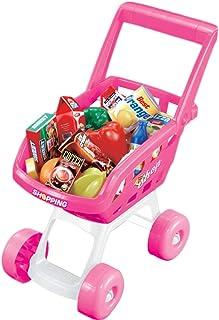 STOBOK 1 set shoppingvagn leksak shoppingvagn rollspelset för barn
