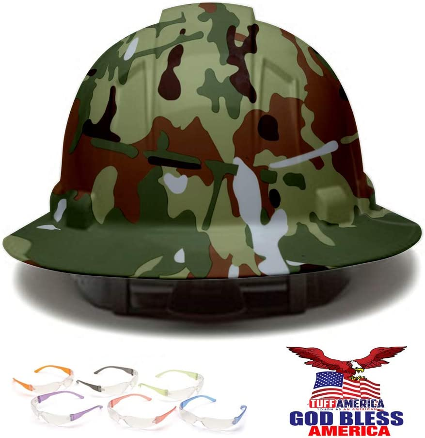 Full Year-end gift Brim Hard Hat Army Camo Safety Helmet 4p cheap Camouflage Design