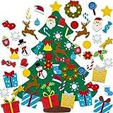 HHYSPA Felt Christmas Tree, DIY Felt Christmas Tree for Toddlers Kids Wall with Detachable Ornaments DIY Set,Xmas Gifts for Christmas Decorations