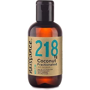 Naissance Aceite Vegetal de Coco Fraccionado n. º 218 – 100ml - Puro, natural, vegano, sin hexano, no OGM - Ideal para aromaterapia, masajes y recetas artesanales.