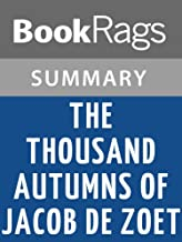 Summary & Study Guide The Thousand Autumns of Jacob de Zoet by David Mitchell