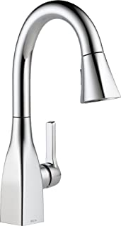 Delta Faucet Mateo Single-Handle Bar-Prep Kitchen Sink Faucet with Pull Down Sprayer and Magnetic Docking Spray Head, Chro...