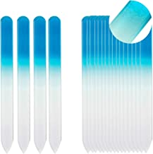 SIUSIO 20 Pack Professional Czech Crystal Shine Glass Nail Files Buffer Manicure Tools Kit Set Gradient Rainbow Color for Nail polishing - The Best emory boards for Fingernail & Toenail Care (Blue)