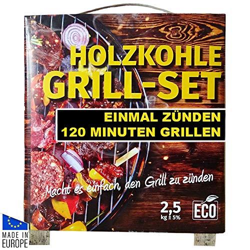 BAU DISCOUNT Holzkohle Grill Set von SDK 2,5 kg mehr braucht Man Nicht für die perfekte Glut