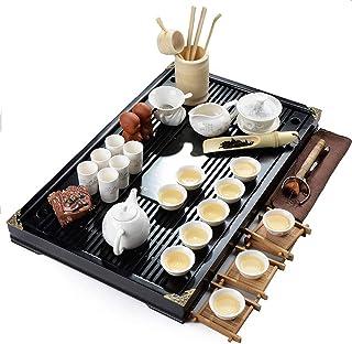 Suica 白磁 茶道具 本格的な中国茶道 工夫茶 茶芸 初歩/学校 15点セット