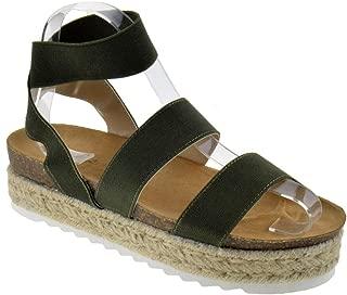 Women's Casual Summer/Spring Open Toe Espadrille Wedge Sandals