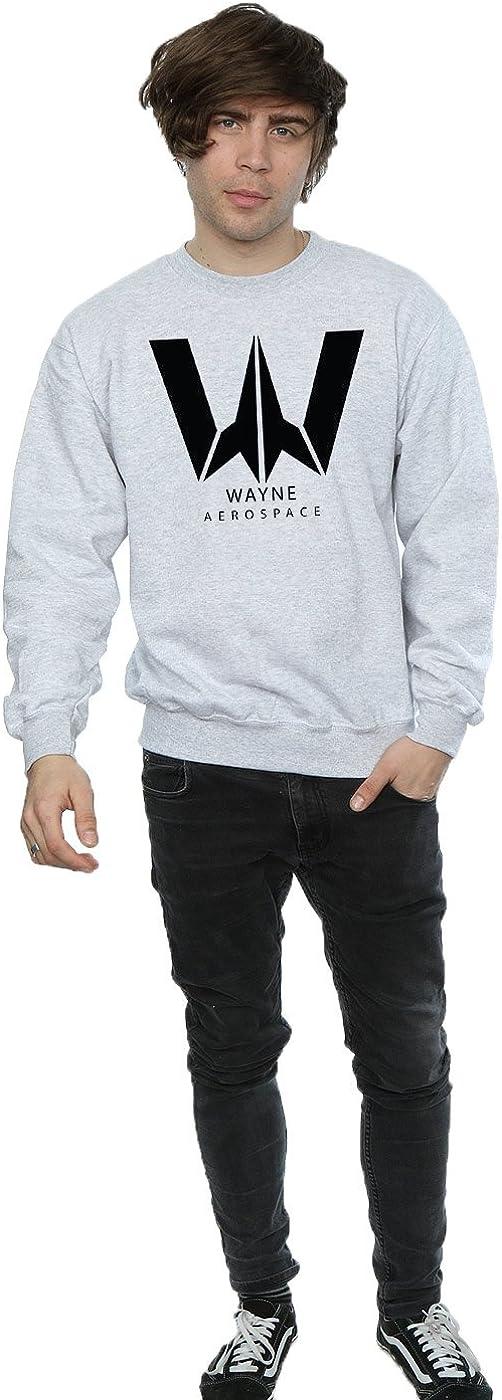 DC Comic Homme Justice League Movie Wayne Aerospace Sweat-Shirt Sport Gris