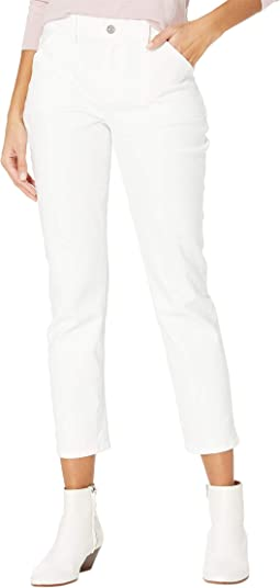 Brigitte w/ Fashion Patch Pockets in Crisp White
