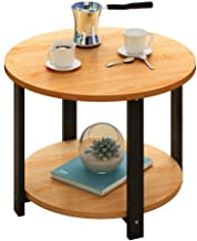 LF- Small Coffee Table MDF Furniture Decorated Living Room Balcony Home and Office Table Chic (Color : Yellow pear Wood, S...
