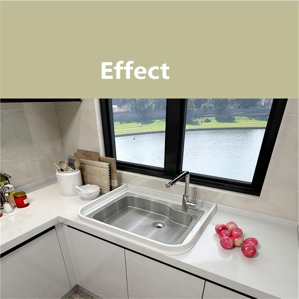 Tira impermeable de silicona flexible, umbral de ducha, tapón de agua de presa de agua, sello de piso del baño, parada de flujo de agua para separación húmeda y seca (100cm,Blanco): Amazon.es: