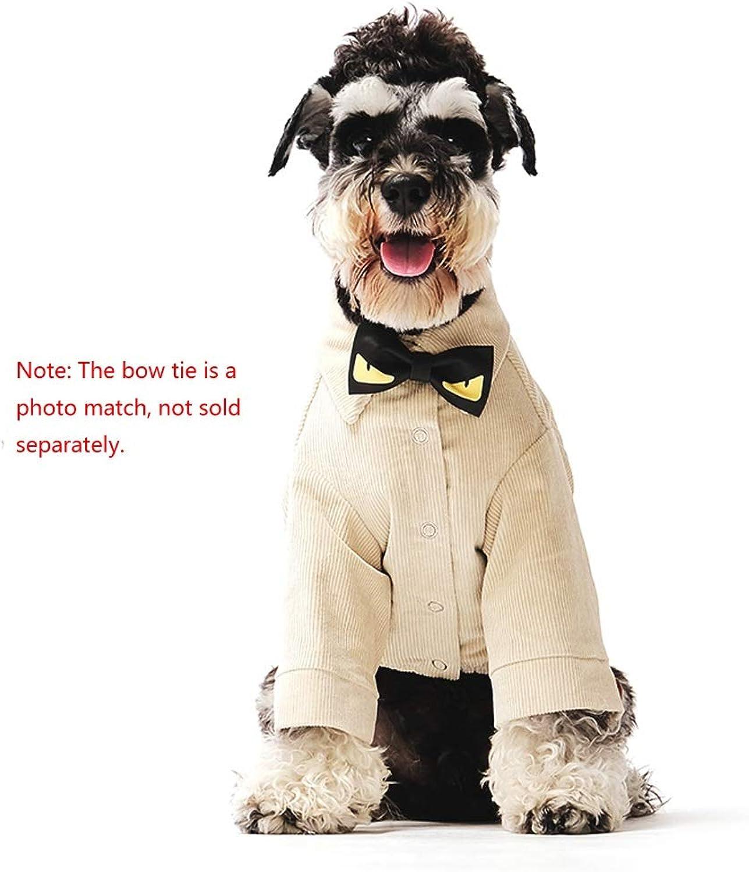 compra en línea hoy YSNUK Ropa Ropa Ropa para mascotas Suministros Para Mascotas Ropa Para Perros Camisa De Perrito Invierno Teddy Schnauzer Camisa De Perro Pequeña Ropa De Pana Caliente, Caqui (S), L (L) Traje de mascota, sala de  comprar mejor