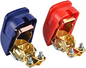 Cllena Quick Release Battery Terminals connector Clamps for Car Auto Rv Caravan Marine Boat Motorhome (Red & Blue)