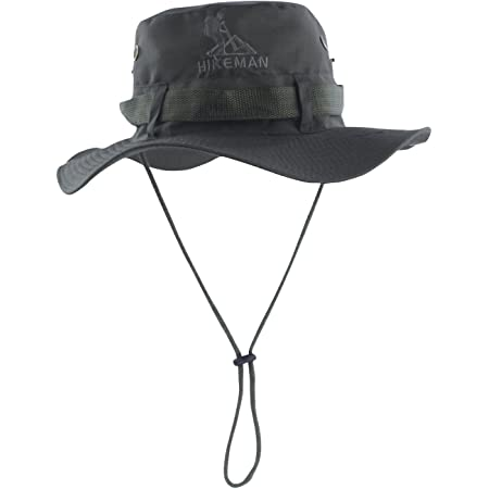 HIKEMAN Fishing Hats for Men and Women, Adjustable Chin Strap and Breathable Ventilation Holes,Foldable UV Protection Sun Hats Designed for Summer, Pool,Hiking, Camping, Travel,Beach