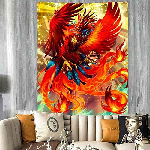 Puzzle 1000 piezas Pintura colorida de la decoración del arte del dragón al atardecer y del fénix puzzle 1000 piezas educa educativo divertido juego familiar para niños adulto50x75cm(20x30inch)