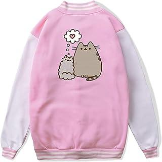VJJ AIDEAR Cute Cat Baseball Uniform Jacket Sport Coat Kids Long Sleeve Hoodie Pullover Black