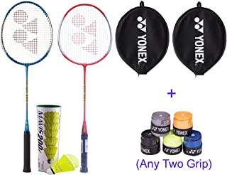 Yonex RCKT Badminton Racquet with 2 Grips, Set of 2 (Multicolor)