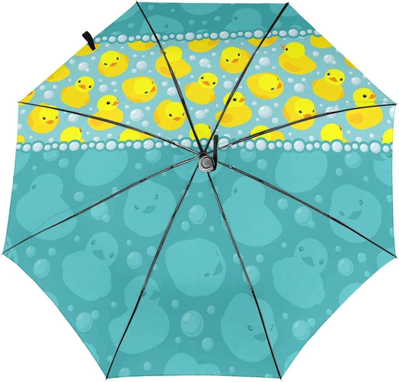 NEWKOW Sun Umbrella Rubber National uniform free shipping Duck Duckies in Elegant Yellow Swimming Water
