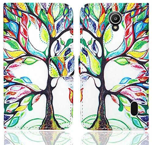 Huawei Y635 Handy Tasche, FoneExpert® Wallet Hülle Flip Cover Hüllen Etui Ledertasche Lederhülle Premium Schutzhülle für Huawei Y635 (Pattern 5)