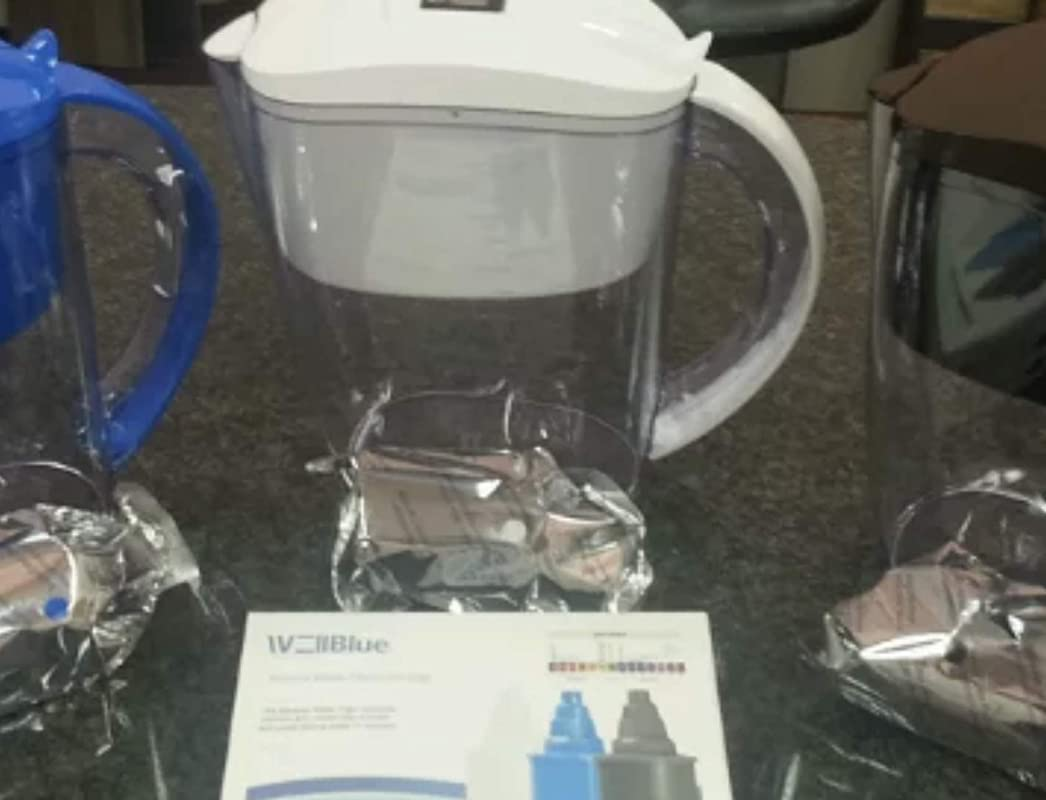 ALKALINE PH PLUS WHITE Ionized Water PITCHER 3 5 L By WellBlue 3 Filters 6 Month Supply