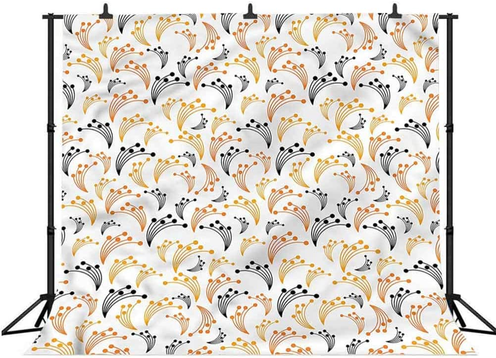 8x8FT Vinyl Photo Backdrops,Antler,Soft Flowers Bouquet Spring Photo Background for Photo Booth Studio Props