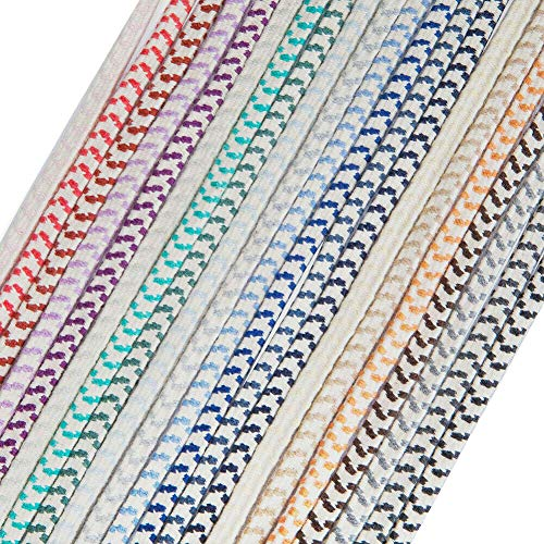 Elastic Shock Cord Chevron Pattern 8mm Thick Flat,Very Strong Bungee Rope 21 Colours. Boating,Sailing,Crafts,Garment,Accessories. Neotrims, Prefect for Outdoor Activities Sports, Silver Grey, 3 Yards