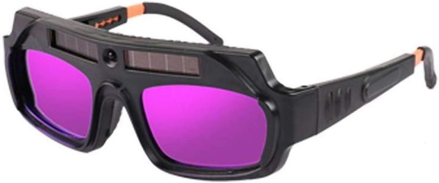 Casco de soldadura, Gafas de soldadura Gafas de soldadura Vidrios anti-deslumbramiento Glasses Anti-Radiación Glaseo Seguro de trabajo Argón Arco Soldadura Gafas,gafas protectoras (Color : A)