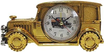 レトロ な 車 の 置き時計 目覚まし 機能 付き クラシック カー (CH555D) ゴールド