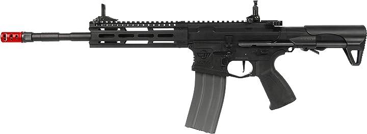 Fucile elettrico softair g&g armament 0,9 joule g&g cm16 raider l 2.0e desert nero (gg-cm16rl) B07SRVJK8L
